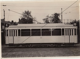 Photo Originale Tram Tramway Motrice à 2 Essieux Pour La Ville De Liège Par Energie Marcinelle - Eisenbahnen