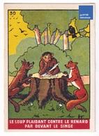 Image Fable Jean De La Fontaine Imp. Landouzy Frères Lambersart Le Loup Plaidant Contre Le Renard Singe Humanisé A31-88 - Autres