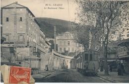 J11 - 06 - GRASSE - Alpes-Maritime - Le Boulevard Thiers - Tramway - Grasse