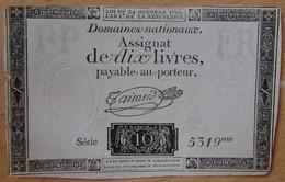 Assignat - 10 Livres FRANCE 24-10-1792   Ass.36b - Assignats