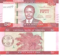 Liberia  P-34  50 Dollars  2017  UNC - Liberia