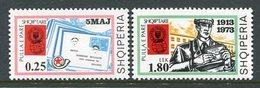 ALBANIA 1973 Stamp Anniversary MNH / **.  Michel 1626-27 - Albanie