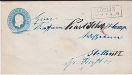 Preußen Ganzsache U 2 A S1 Ra 2 Cörlin Ostgebiete Pommern N Stettin Ca 1852 - Prusse