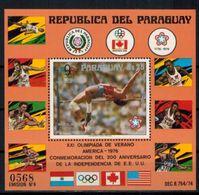 Paraguay Block 288 Olympia Sport Montreal Bruce Jenner Postfrisch Kat 30,00 1976 - Paraguay