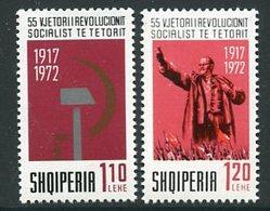 ALBANIA 1972 October Revolution Anniversary MNH / **.  Michel 1591-92 - Albanie