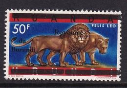 Burundi 1962, Lion, Overprint, Minr 24, MNH. Cv 3,50 Euro - Burundi