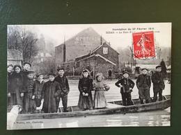 SEDAN- Inondation Du 27 Février 1910-Le Petit Pont - Sedan