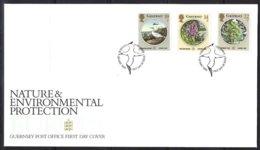 Guernsey, Yv 359/61,  F.D.C.  Europa Nature Et Environnement - Guernesey