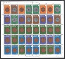 Guernsey, Yv C 194 Les 7 Carnets Série Courante Monnaies ,feuilles Pour Composition De Carnets ** - Guernsey