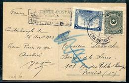TURQUIE - N° 645 + 668 / CP OBL. PERA LE  28/4/1923 POUR PARIS - TB - 1858-1921 Empire Ottoman