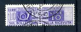 1946-51 REP. IT. 10lire PACCHI POSTALI N.73 USATO - Postal Parcels