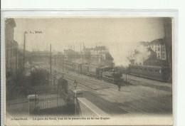 CP.Bruxelles-Schaerbeek (ex-Collection DELOOSE) - La Gare Du Nord, Vue De La Passerelle Et De La Rue Rogier 1902 + Train - Schaarbeek - Schaerbeek