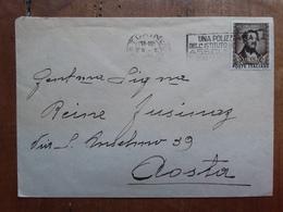 REPUBBLICA 1949 - Donizetti Isolato Su Busta Viaggiata Con Annullo Retro + Spese Postali - 6. 1946-.. Repubblica