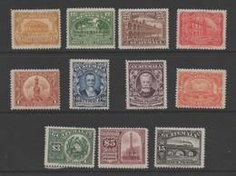 Guatemala 1926 Re-engraved Stamp Set. Mint. - Guatemala