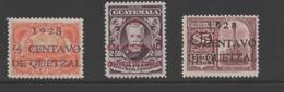 Guatemala 1928 Surcharged Stamp Set. Mint. - Guatemala