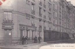 PARIS XII Rue Du CONGO Logements Populaires Animation  Devant Le DISPENSAIRE Consultation De NOURRISSONS 1909 - Arrondissement: 12