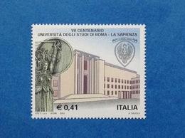 2003 ITALIA UNIVERSITA LA SAPIENZA ROMA FRANCOBOLLO NUOVO ITALY STAMP NEW MNH** - 1946-.. République