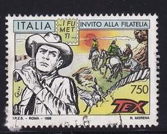 Italy 1996, Tex, Cowboys And Indians, Minr 2465, Vfu - 6. 1946-.. Republic