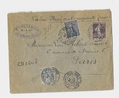 18 - CHER « SAINT AMAND»  L.I. 2ème Ech. - CHARGE  - Affrt. à 65c. - Storia Postale