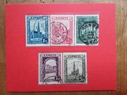 BELGIO 1929 - Espressi Nn. 1/5 Timbrati + Spese Postali - Usati