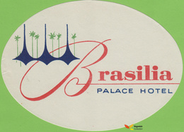 Voyo HOTEL PALACE Brasilia Brazil Hotel Label 1960s Vintage - Etiketten Van Hotels