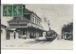 Bernay La Gare , Train , Locomotive à Vapeur - Gares - Avec Trains