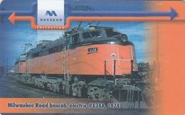 BULGARIA - Train Milwaukee Road Boxcab, Electric #E34A, 1974 , 12/00, Tirage 50,000, 60 U, Used - Bulgarien