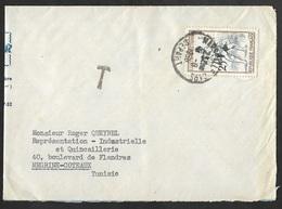 Enveloppe Avec Cachet Marseille Gare Depart Sur N°1164 - Postmark Collection (Covers)