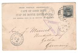 Kap Der Guten Hoffnung , Zensierte Ganzsache Nach Deutschland , 1901 - Cape Of Good Hope (1853-1904)