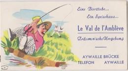 Carte De Visite Commerciale Ancienne Le Val D'Ambleve AYWAILLE  10 X 5,5 CM - Visiting Cards