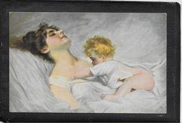 AK 0397  Schwarz , A. - Wach Auf , Mama / Künstlerkarte Um 1910-20 - Peintures & Tableaux