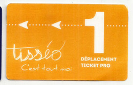 FRANCE. Tisséo (transports En Commun De Toulouse) Ticket Pro. - Europe