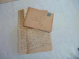 Felibrige Félibre Occitan Provençal Mistral LAS + Enveloppe Nicolas Lasserre  Archiviste Aigues Mortes - Autogramme & Autographen