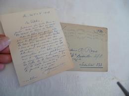 Felibrige Félibre Occitan Provençal Mistral LAS + Enveloppe Jouveau - Autogramme & Autographen