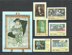 Vietnam Viet Nam MNH Perf Stamps & Souvenir Sheet 1987 : Art Painting Of Picasso (Ms533) - Vietnam