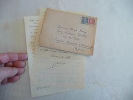 Felibrige Félibre Occitan Provençal Mistral LAS + Enveloppe Lesaffre - Autogramme & Autographen