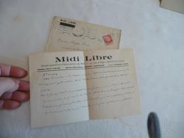 Felibrige Félibre Occitan Provençal Mistral LAS + Enveloppe Jules Véran En Tête Midi Libre - Autogramme & Autographen