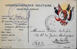 FR. Guerre 1914-18 - Correspondance Des Armées De La République - Franchise Pour Les Militaires - Daté 06.08.1915 - TBE - Postmark Collection (Covers)