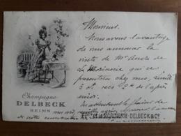 Carte Postale Champagne Delbeck Reims - Reims