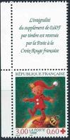 FRANCE 1998 CROIX ROUGE. Yvert N° 3199 Avec Logo Attenant Issu Du Carnet. (** Neuf Sans Charnière. MNH) - Ungebraucht