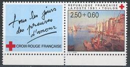 FRANCE 1991 CROIX ROUGE. Yvert N° 2733 Avec Logo Attenant Issu Du Carnet. (** Neuf Sans Charnière. MNH) - Frankreich