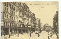 CP.Bruxelles-Schaerbeek (ex-Collection DELOOSE) -  Bruxelles Boulevard Anspach Grand Hôtel + Tram - W0089 - Brussel (Stad)