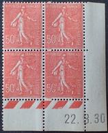 R1189/377 - 1930 - TYPE SEMEUSE LIGNEE - N°199 (IIA) TIMBRES NEUFS** CdF Daté - 1930-1939