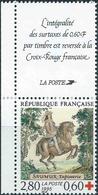FRANCE 1995 CROIX ROUGE. Yvert N° 2946 Avec Logo Attenant Issu Du Carnet. (** Neuf Sans Charnière. MNH) - France