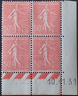 R1189/378 - 1931 - TYPE SEMEUSE LIGNEE - N°199 (IIA) TIMBRES NEUFS** CdF Daté - 1930-1939