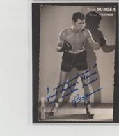 .BOXING.BOKSEN. PHOTO. Lansival  BOXEUR  C. BURGER   PROF. P. GANDON  SIGNEE. AUTOGRAPHE - Boxing