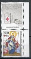 FRANCE 1993 CROIX ROUGE. Yvert N° 2853 Avec Logo Attenant Issu Du Carnet. (** Neuf Sans Charnière. MNH) - France