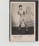 .BOXING.BOKSEN. PHOTO.   BOXEUR  G. MOUSSE  TEAM DETALENCOURT  SIGNEE. AUTOGRAPHE 1944 - Boxing