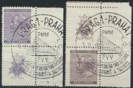 Böhmen Und Mähren 73/74Zf Eckrand O - Bohemen En Moravïe