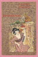 """Carte Signée """" Raphael KIRCHNER - La Guerre Amusante - Bombardement - Kirchner, Raphael"""